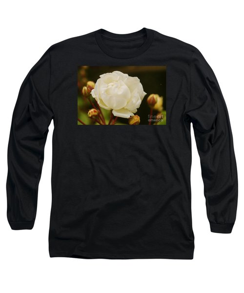 Long Sleeve T-Shirt featuring the photograph White Rose 1 by Rudi Prott