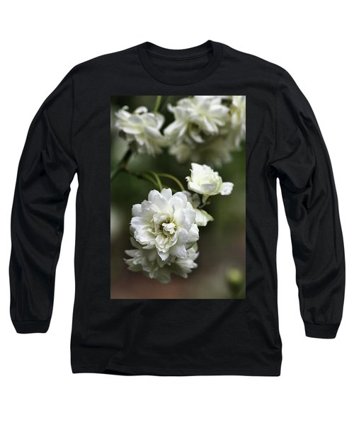 Long Sleeve T-Shirt featuring the photograph White Roses by Joy Watson