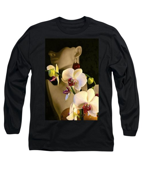 Long Sleeve T-Shirt featuring the photograph White Shoulders by Elf Evans