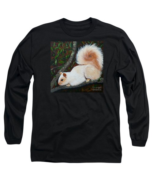 White Squirrel Of Sooke Long Sleeve T-Shirt
