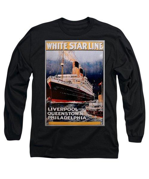 White Star Line Poster 1 Long Sleeve T-Shirt