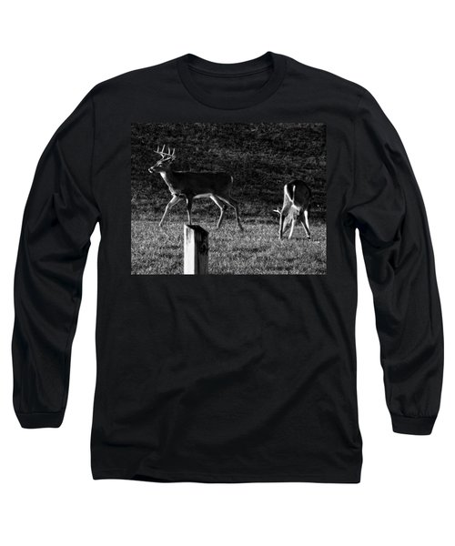 White Tailed Deer Long Sleeve T-Shirt by Chris Flees