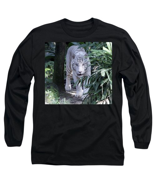 Long Sleeve T-Shirt featuring the photograph White Tiger  by Shoal Hollingsworth