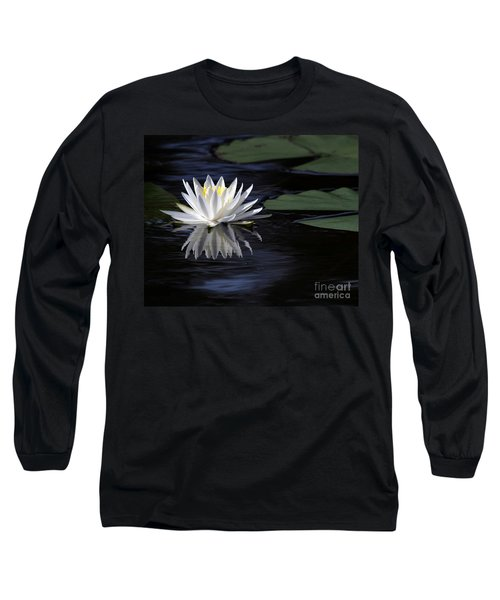 White Water Lily Left Long Sleeve T-Shirt