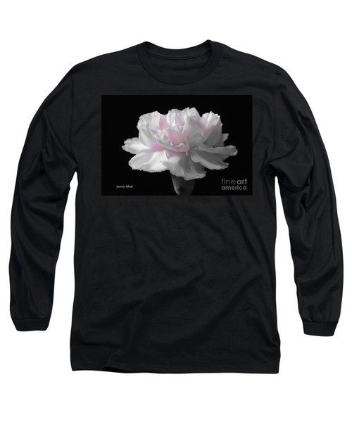 Long Sleeve T-Shirt featuring the digital art White With Pink Carnation by Jeannie Rhode