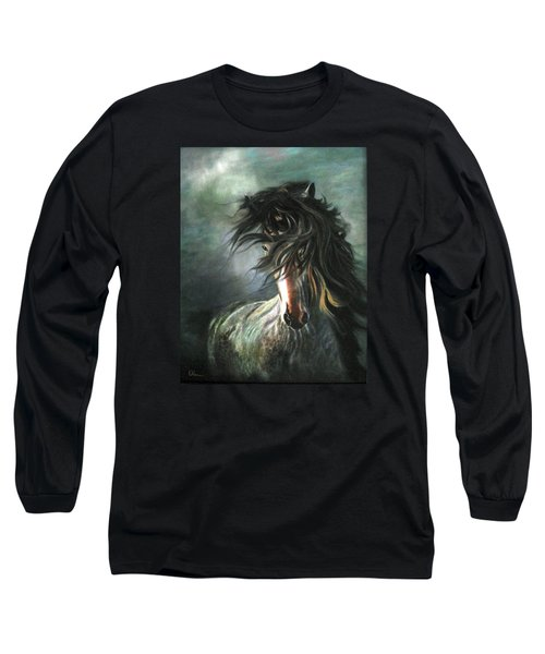 Wild And Free Long Sleeve T-Shirt by LaVonne Hand