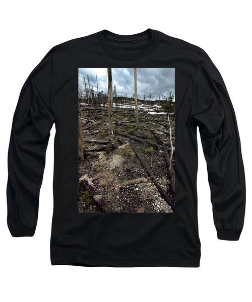 Long Sleeve T-Shirt featuring the photograph Wild Fire Aftermath by Amanda Stadther