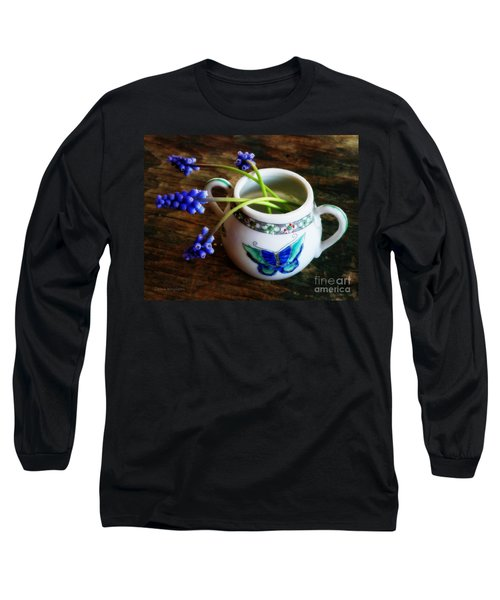 Wild Flowers In Sugar Bowl Long Sleeve T-Shirt