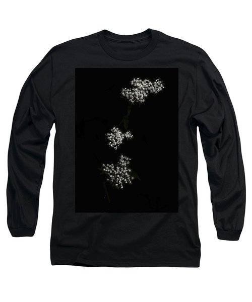Wildflower In Black Long Sleeve T-Shirt