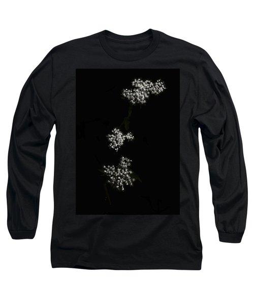 Wildflower In Black Long Sleeve T-Shirt