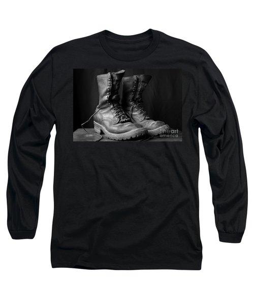 Wildland Fire Boots Still Life Long Sleeve T-Shirt