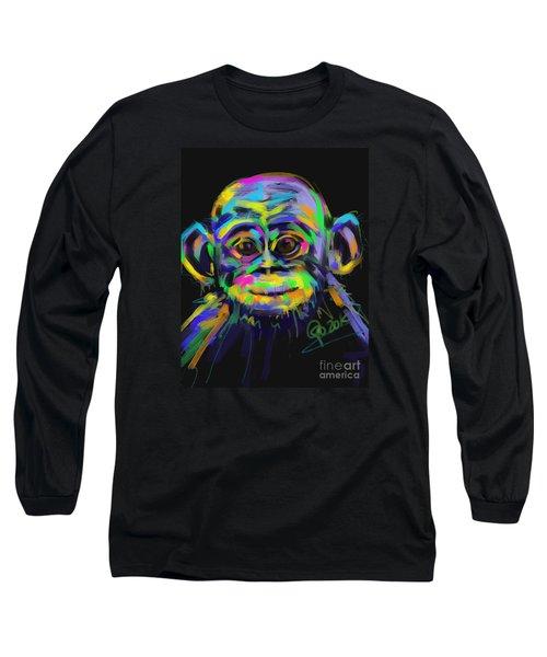 Wildlife Baby Chimp Long Sleeve T-Shirt by Go Van Kampen
