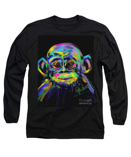 Wildlife Baby Chimp Long Sleeve T-Shirt