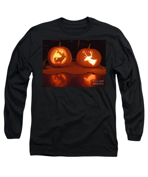 Wildlife Halloween Pumpkin Carving Long Sleeve T-Shirt