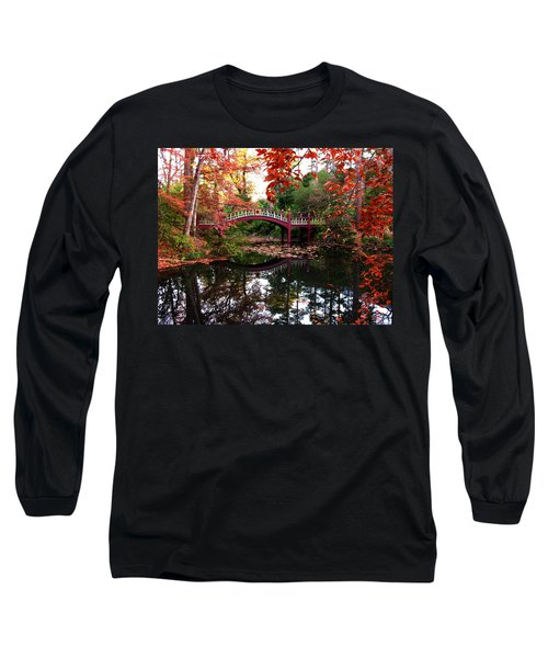 William And Mary College  Crim Dell Bridge Long Sleeve T-Shirt by Jacqueline M Lewis