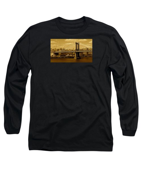 Williamsburg Bridge New York City Long Sleeve T-Shirt