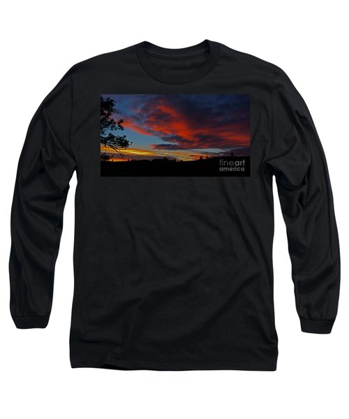 Long Sleeve T-Shirt featuring the photograph Black Hills Sunset by Bill Gabbert