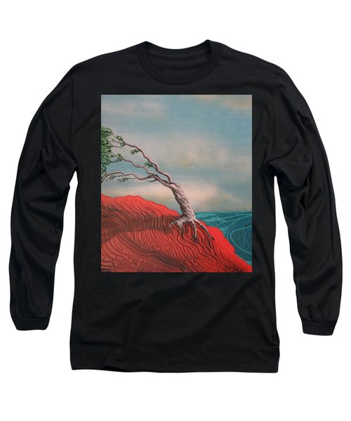 Wind Swept Tree Long Sleeve T-Shirt