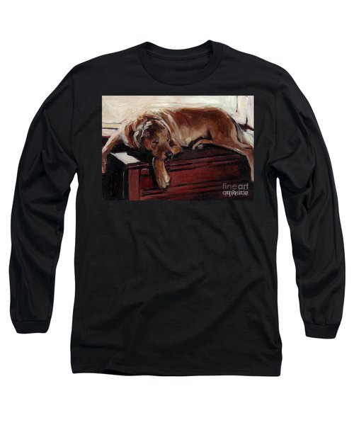 Long Sleeve T-Shirt featuring the painting Window Dresser by Molly Poole