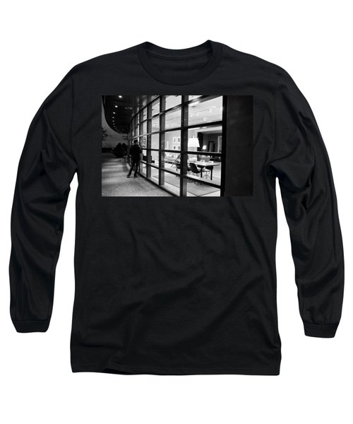 Window Shopping In The Dark Long Sleeve T-Shirt by Melinda Ledsome