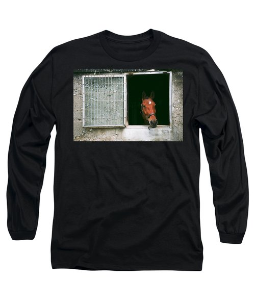 Window View Long Sleeve T-Shirt by David Porteus