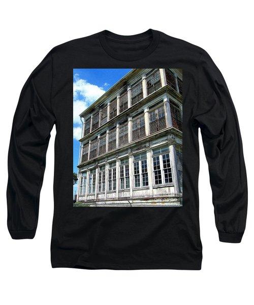 Long Sleeve T-Shirt featuring the photograph Lunatic Asylum Windows  by Peter Gumaer Ogden