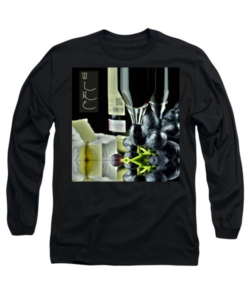 Wine Bottle With Glass Long Sleeve T-Shirt