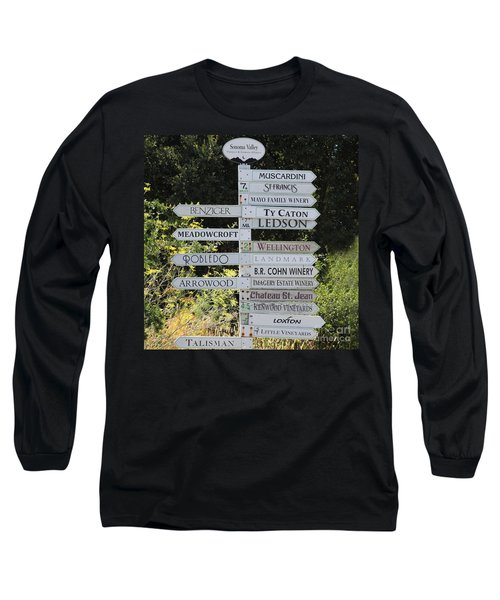 Winery Street Sign In The Sonoma California Wine Country 5d24601 Square Long Sleeve T-Shirt