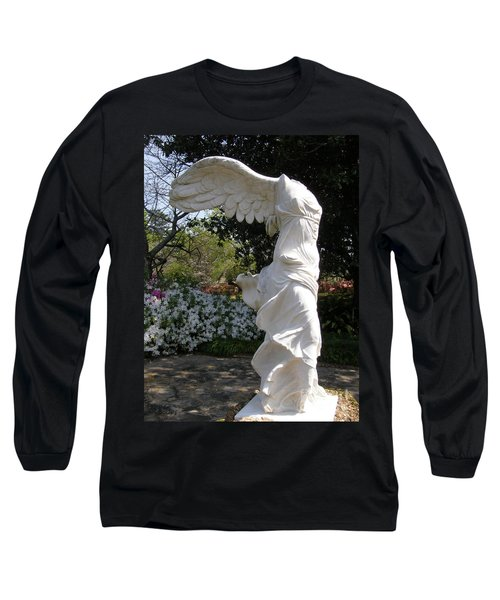 Winged Victory Nike Long Sleeve T-Shirt by Caryl J Bohn