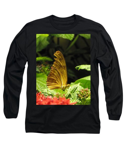 Wings Of Gold Long Sleeve T-Shirt by Jennifer Wheatley Wolf