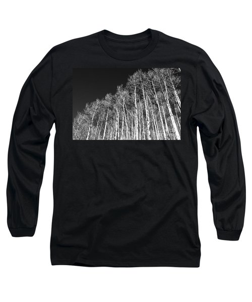 Long Sleeve T-Shirt featuring the photograph Winter Aspens by Roselynne Broussard