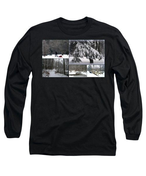 Long Sleeve T-Shirt featuring the photograph Winter At Petrifying Springs Park by Kay Novy