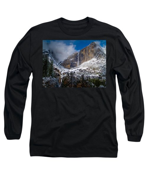 Winter At Yosemite Falls Long Sleeve T-Shirt by Bill Gallagher