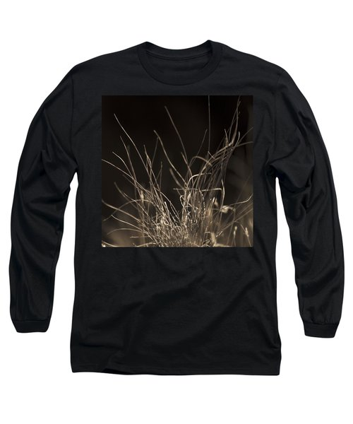 Long Sleeve T-Shirt featuring the photograph Winter Grass 2 by Yulia Kazansky
