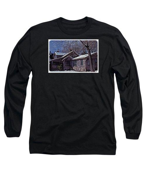 Long Sleeve T-Shirt featuring the digital art Winter Lodge by Richard Farrington