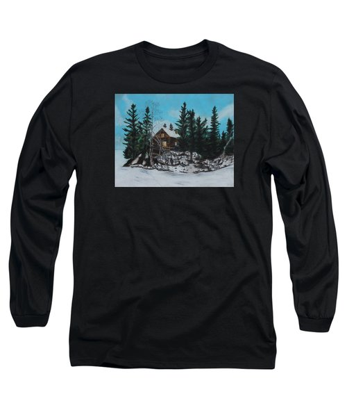 Winter Marshland Long Sleeve T-Shirt by Jeanne Fischer