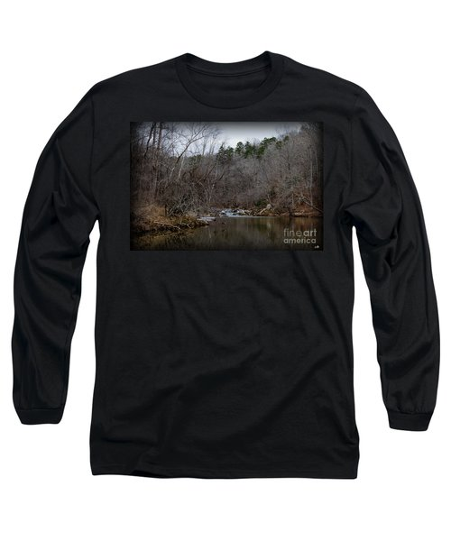 Winter On The Eno River At Fews Ford Long Sleeve T-Shirt
