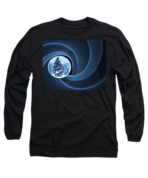 Long Sleeve T-Shirt featuring the photograph Winter Pines by Judy  Johnson