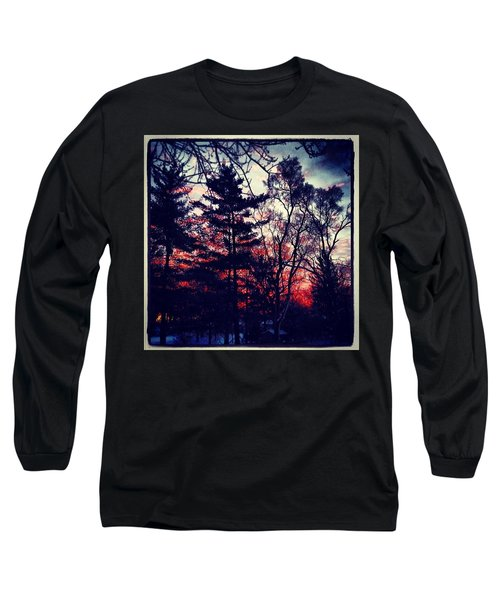 Winter Red Long Sleeve T-Shirt by Frank J Casella