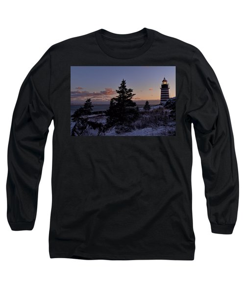 Winter Sentinel Lighthouse Long Sleeve T-Shirt