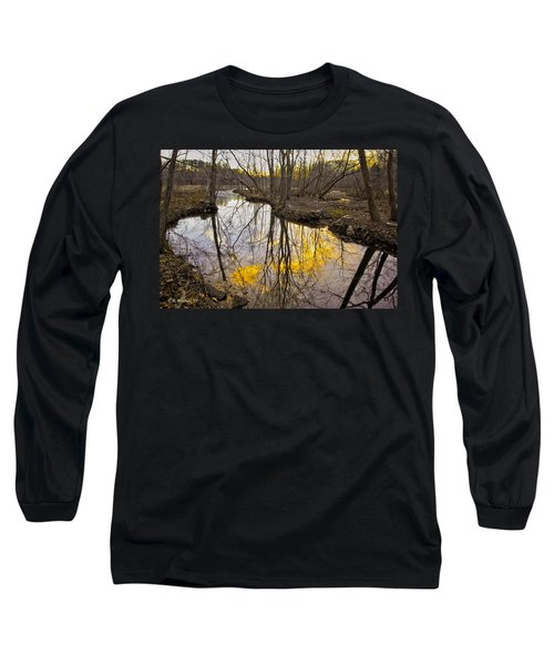 Long Sleeve T-Shirt featuring the photograph Winter Sunset At Williston Mill by Brian Wallace