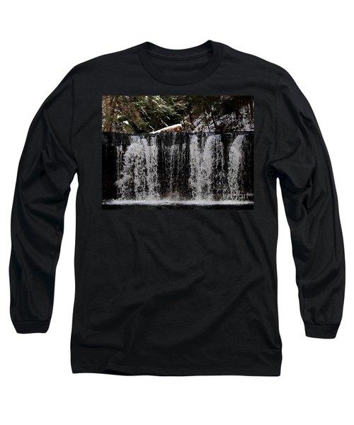 Winter Woodland Waterfall Long Sleeve T-Shirt