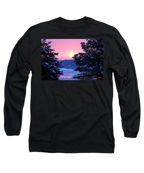 Long Sleeve T-Shirt featuring the photograph Winter's Sunrise by Elizabeth Winter