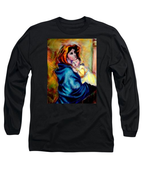 Mondonna Of The Street By Roberto Ferrizzi, Rendition In Pastel Antonia Citrino,  Sold.        Long Sleeve T-Shirt by Antonia Citrino