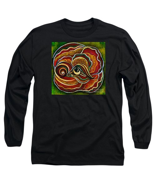 Long Sleeve T-Shirt featuring the painting Wisdom Spirit Eye by Deborha Kerr