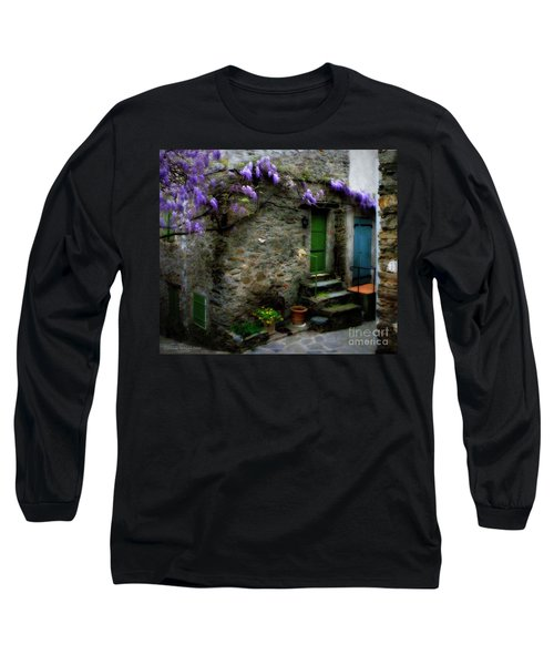Wisteria On Stone House Long Sleeve T-Shirt