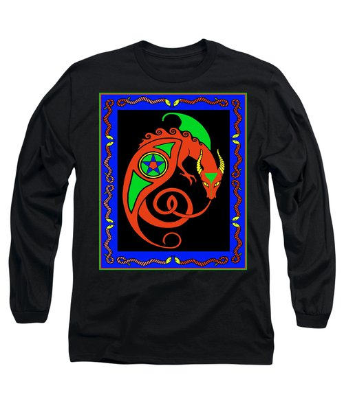 Long Sleeve T-Shirt featuring the digital art Witches Dragon by Vagabond Folk Art - Virginia Vivier