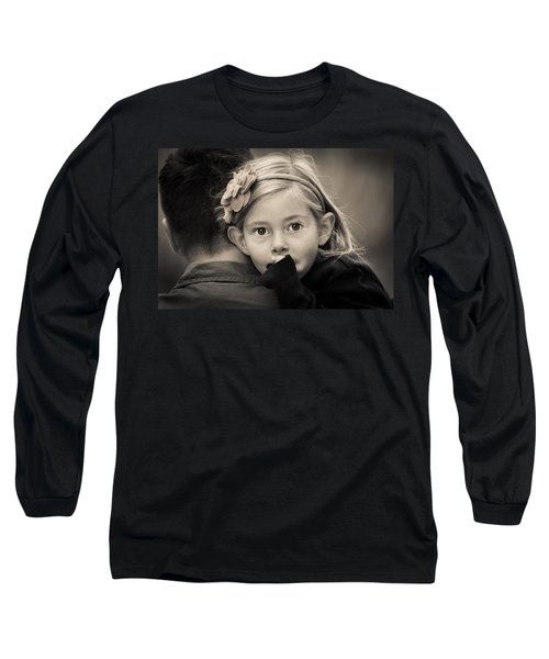 With Dad - B And W Long Sleeve T-Shirt
