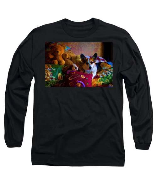 With His Friends On The Bed Long Sleeve T-Shirt