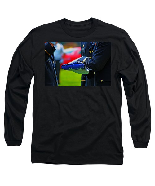 Long Sleeve T-Shirt featuring the photograph With Honor by Rowana Ray